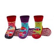 Κάλτσες με δερμάτινη αντιολισθητική σόλα Soxo 67001a