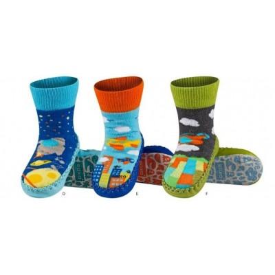 Κάλτσες με δερμάτινη αντιολισθητική σόλα Soxo 67001b