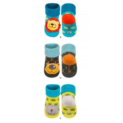 Καλτσάκια βρεφικά με ζωάκια που κουδουνίζουν Soxo 68480-2