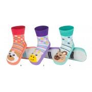Κάλτσες με δερμάτινη αντιολισθητική σόλα Soxo 87729-2